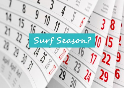 Surf Saison Kalender
