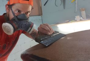 shaping eco surfboards